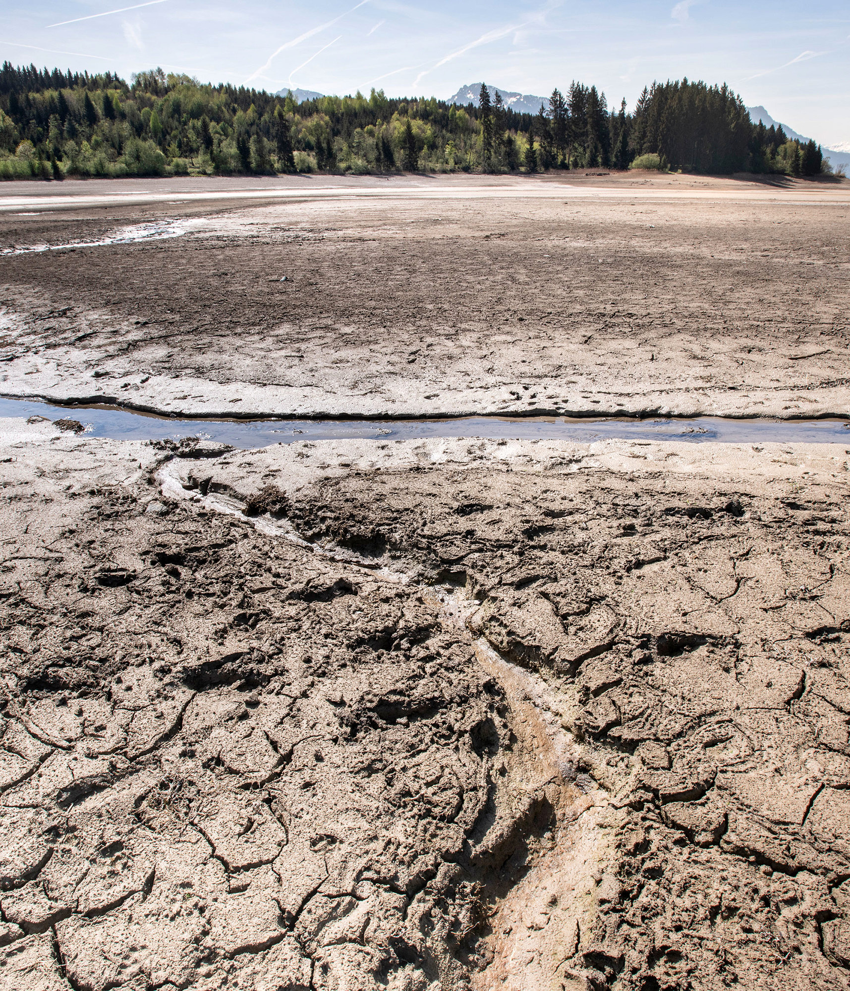 Drought and arid conditions caused by water shortages